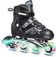 DIKASHI Adjustable Roller Blades Skates for Boys Girls Ages, Inline Skates for Kids Adults Women Men Size, Lig