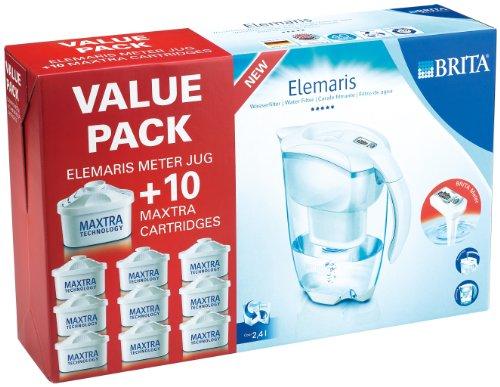 Brita Elemaris Cool Sparpack mit 10 Filterkartuschen, Weiß