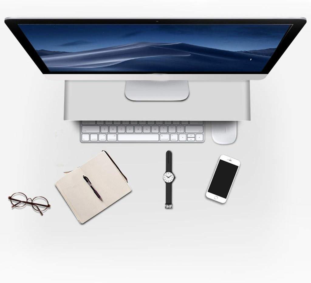 Color : Black, Size : 4921.55cm Table Computer Monitor Heightening Desktop Aluminum Alloy Bracket All-in-one Bracket Base Office Desktop Portable Neck Support