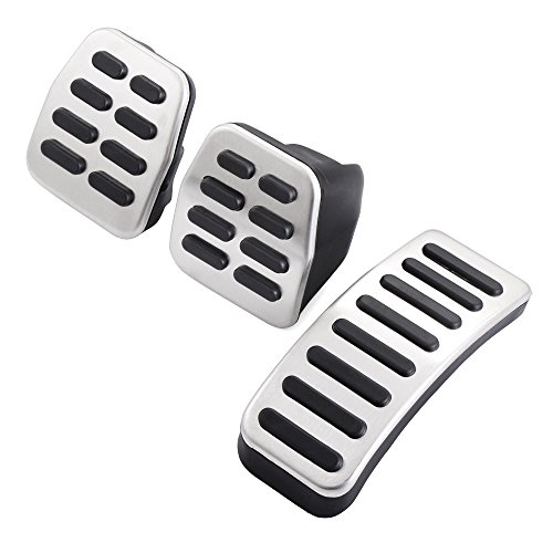 AndyGo Fit For VW Bora/Jetta Mk4/Golf Mk4/Polo 9N Non-slip Stainless Steel Style Pedal Cover For Manual Gear