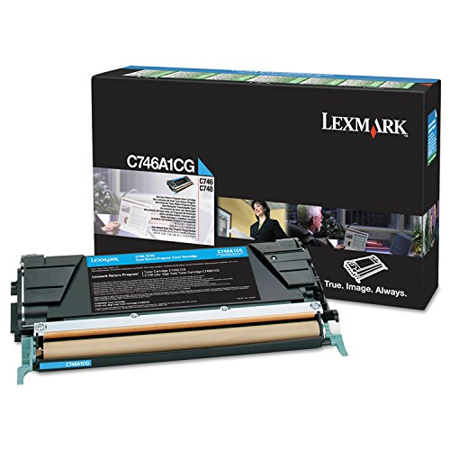 Lexmark C746A1CG C746A1CG Toner, 7000 Page-Yield, Cyan