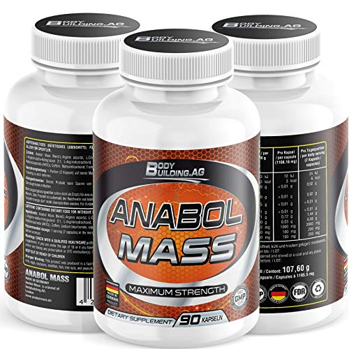 Anabol Mass Nitric Oxide Supplement - Premium Muscle Building Nitric Oxide  Booster with a AKG KIC - Arginine   Citrulline, Caffeine  Amazon.co.uk   Health ... cf5450ae5bc