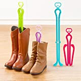3pcs Boot Trees Boot Shaper Stands for Closet Organization Plastic Adjustable Length Boot Holder