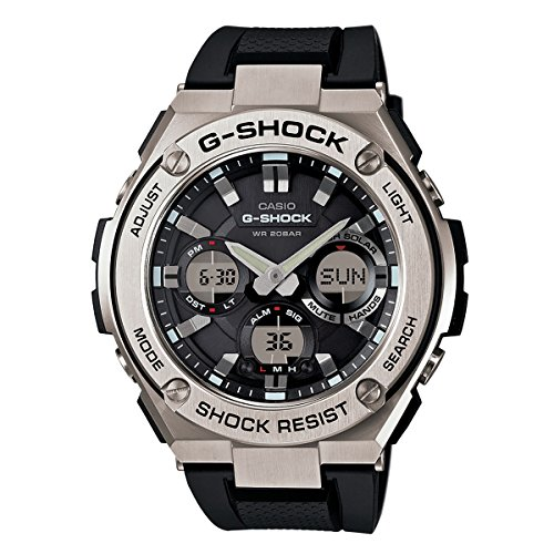 Watch Solar G-shock Tough (Casio Men's 'G Shock' Quartz Stainless Steel and Resin Casual Watch, Color:Black (Model: GST-S110-1ACR))