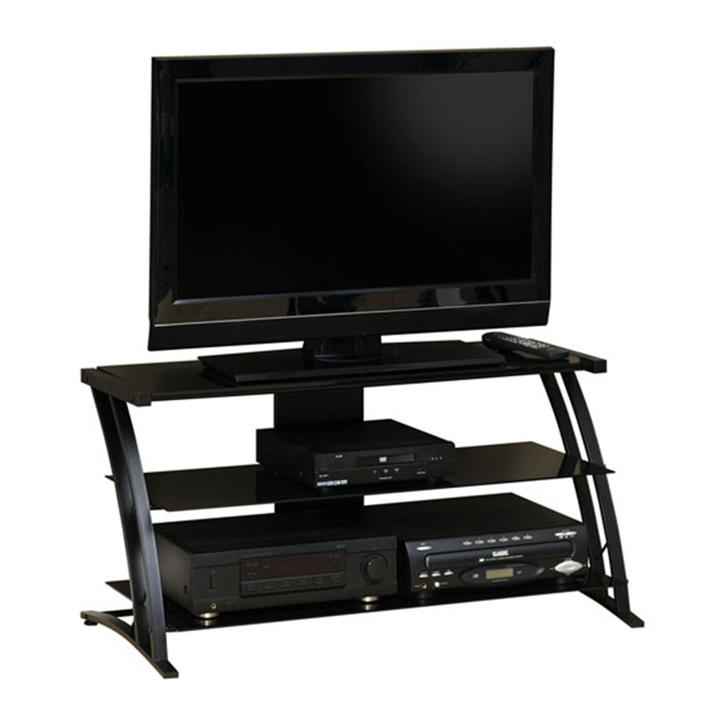 Sauder Deco Panel TV Stand, Black