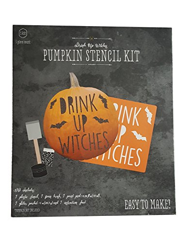 Pumpkin Stencil Kit - Drink Up Witches - Adult (Halloween Pumpkin Stencils Witch)