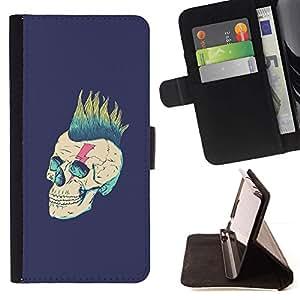 Momo Phone Case / Flip Funda de Cuero Case Cover - Punk Purple Vignette Rock Metal - Samsung Galaxy S6 EDGE