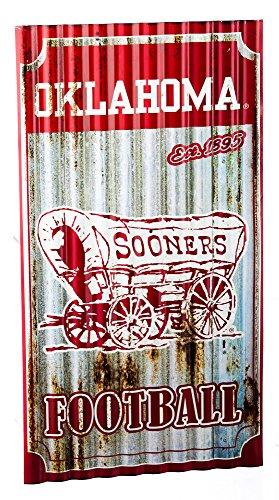 (Team Sports America Oklahoma Sooners Corrugated Metal Wall Art )