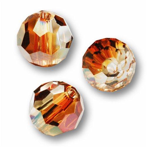 10 Round 4mm (5000) Swarovski Crystal Beads CRYSTAL (Swarovski Copper Round Beads)
