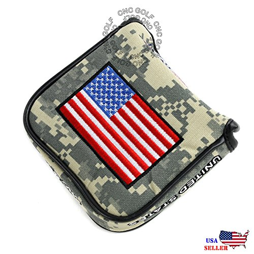 HEAVY DUTY Magnetic USA Military Mallet Putter Cover For Scotty Cameron Odyssey 2ball Taylormade