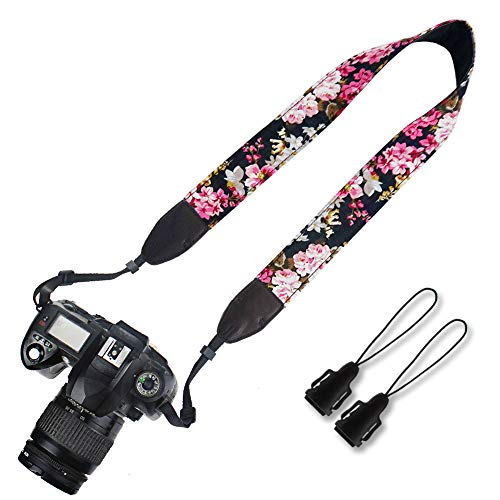 Elvam Camera Neck Shoulder Strap Belt for Men/Women Compatible with Universal DSLR/SLR/Digital Camera/Instant Camera/Nikon Canon Sony Pentax Fujifilm ETC, Flower Floral 05