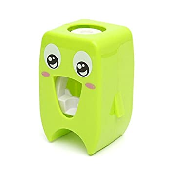 Diseño Único Soporte de Pared Automático Dispensador de Pasta de Dientes de Dibujos de Niños: Amazon.es: Hogar