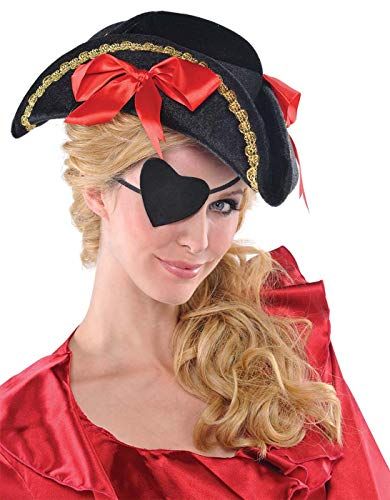 Amscan 491621 Pirate Heart Eye Patch, Multicolor, One Size]()