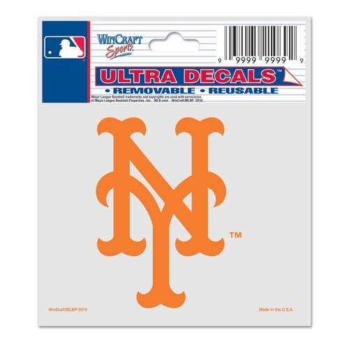 (WinCraft MLB New York Mets 84410010 Multi-Use Decal, 3