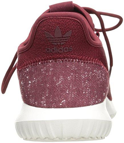 Adidas Originals Heren Tubular Shadow Loopschoen Collegiaal Bordeaux Rood / Collegiaal Bordeaux Rood / Kristal Wit