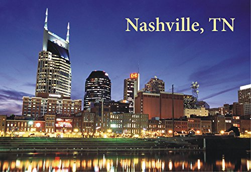 Skyline of Nashville, Tennessee, TN, City, Souvenir Magnet 2 x 3 Fridge Photo Magnet