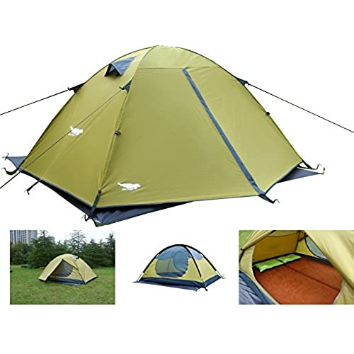 Luxe Tempo Backpacking 2 Person Tents for C&ing with with Rainfly 3-4 season 2 Doors 2 Vestibules¡  sc 1 st  Amazon.com & All Seasons Tent: Amazon.com