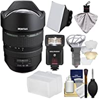Pentax HD FA 15-30mm f/2.8 ED SDM WR Zoom Lens with Flash + Soft Box + Diffuser + Kit