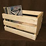 18'' CRATE Vinyl LP Record Storage Box Solid Pine