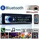 BoomBoost Car Stereo 12V FM In Dash Radio 1 DIN SD/USB AUX Bluetooth Handsfree car radio