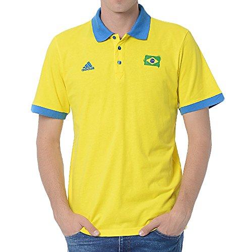 Adidas World Cup 2014 Brazil Polo - Yellow - S Adidas Brazil