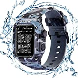 Waterproof Case for Apple Watch Series 4/5,Rugged