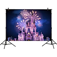 Allenjoy 7x5ft photography backdrops Beautiful Princess Prince Castle night Fireworks Birthday party banner photo studio booth background newborn baby shower photocall