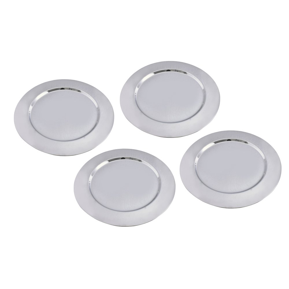 Kosma Set of 4 Premium Charger Plates, Size - 33 cm, Stainless Steel High Polished Charger Plate | Decorative Under-Plates