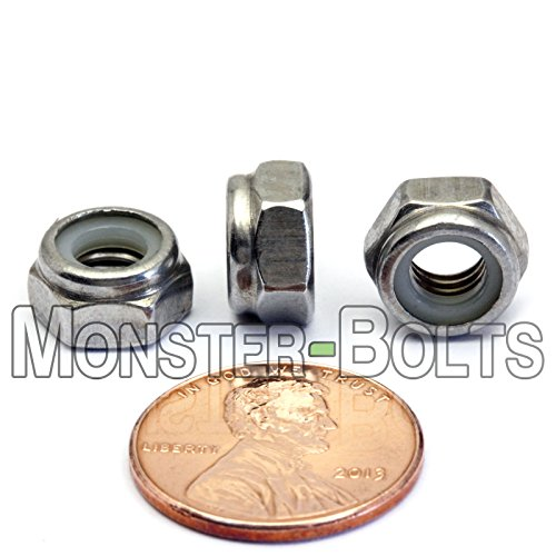 50 M6 x 1 or M6-1.0 Hex Nuts A2-70 Stainless Steel
