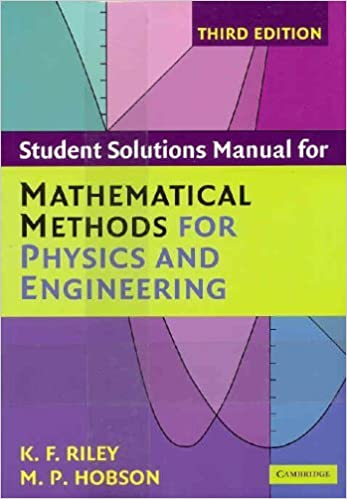 Book Mathematical Methods for Physics and Engineering Third Edition Set by Ken F. Riley (2006-08-21)