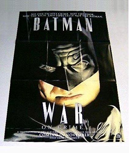 1999 Batman poster! Giant rare vintage original 1990's Dc Comics War on Crime factory