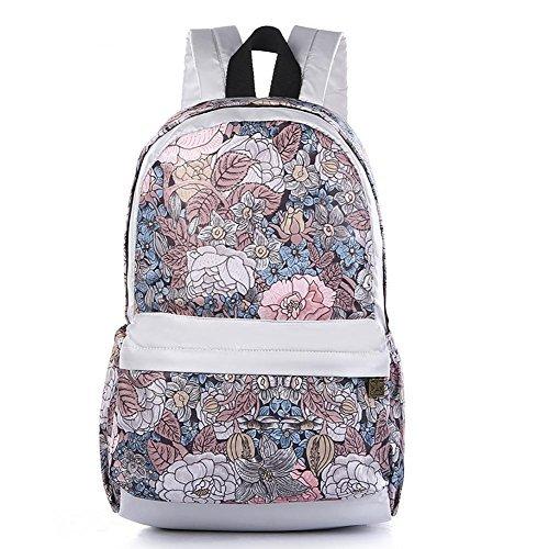 Black Butterfly Women's Student Backpack For Daypack Backpack School Bag white red v [並行輸入品]   B077Q7WHCQ