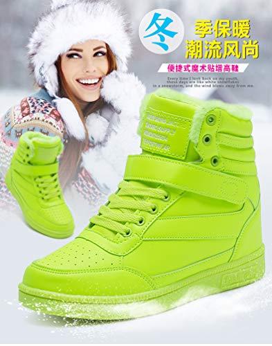 Gruesa De Deportivos Parte Para Ocasionales Verde Zapatillas Aumento Invierno Más Liangxie Inferior Mujer Terciopelo Zapatos E Otoño Correr La RvBcqI