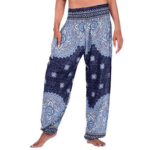 CCatyam Plus Size Yoga Pants for Women Men, Harem Trouser Wide Leg Print Sport Casual Fashion Navy