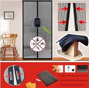 New Handsfree Magic Mesh Screen Door Magnetic Anti Mosquito Bug Doors Curtain Size:210cm L. X 100cm