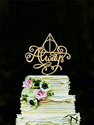 Harry Potter Wedding Cake Topper Always Cake Topper Harry Potter Cake  Decorations Love Cake Topper Always Cake Sign