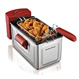 Hamilton Beach Professional Style Deep Fryer, Red