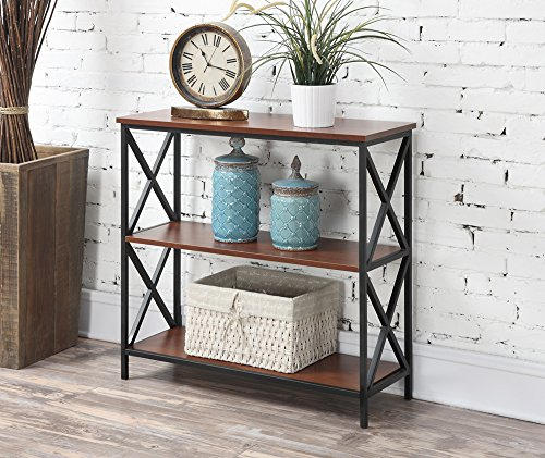 Convenience Concepts Tucson 3-Tier Bookcase, Cherry -