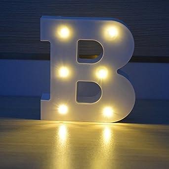 e799426b9a8d ... HopeU5® Alphabet Plastik Marquee Lampen, Beleuchtung Worte, Geburtstag  Hochzeit Party Bar Schlafzimmer Wand Decor-B  Amazon.de  Beleuchtung