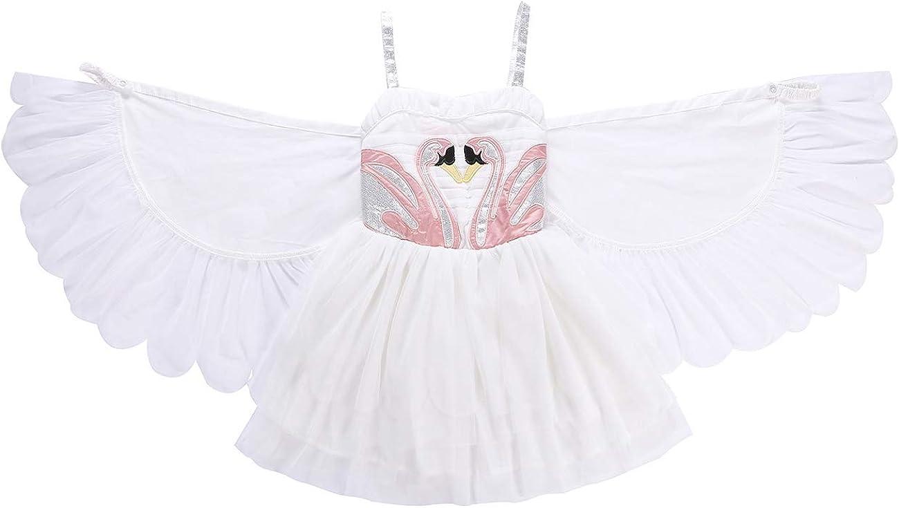 Feynman Vestisdo Blanca Princesa con Alas para Niñas Desmontables ...