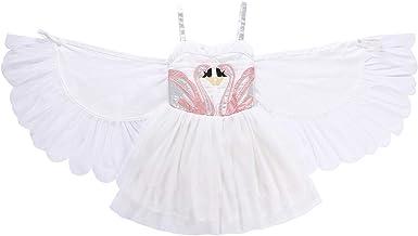 ShiyiUP Vestido de Princesa de Cisne con Alas para Niñas: Amazon ...