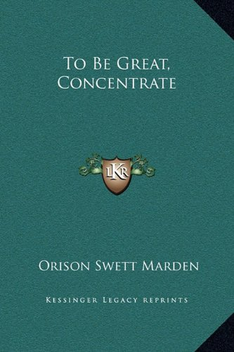 Download To Be Great, Concentrate pdf