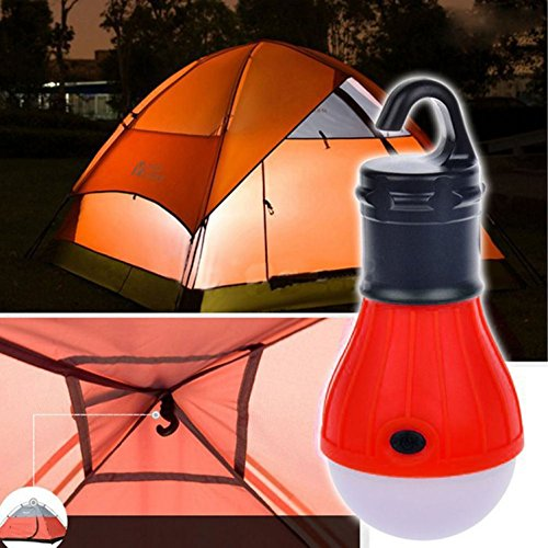 1 Pcs Awe-inspiring Fashionable 3-Modes Q5 3 LEDs Lantern Night Lights Tent Hanging Bivouac Pocket High Power Lightweight Car Repairs Bright Energy Efficient Color Red