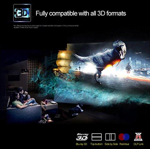 Deeirao Proyector láser 3D, proyector de Cine en casa DLP Mini ...