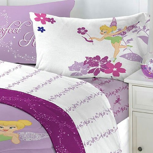 Tinkerbell Sets (New 4pc Disney Tinkerbell Powder Purple Bedding Full Sheet Set - (Type of Product:Bedding-Sheets & pillowcases) - New)