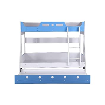 Hometown Jerry Single Size Bunk Bed Blue Amazon In Home Kitchen