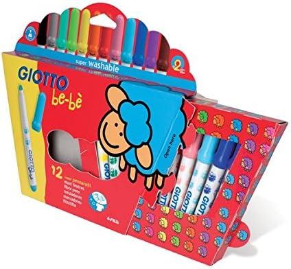 Fila - estuche de 12 rotuladores giotto be-be. articulo de la linea especial. niños 0-3 años.: Amazon.es: Oficina y papelería