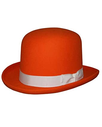 4dc1b2e5f25 Tall Derby Bowler Hat in Orange at Amazon Men s Clothing store