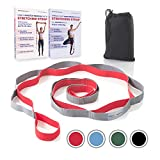 Sport2People Yoga Strap for Stretching and Rehabilitation- Rehab Stretch Band with 12 Loops to Improve Your Flexibility - Physical Therapy Equipment