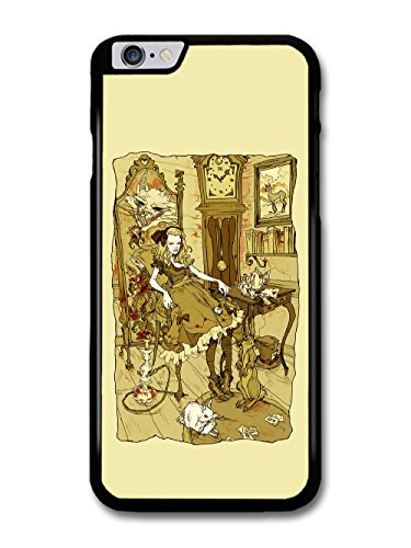New Fairy Tale Alice Cool Illustration Fashion Style in Sepia coque pour iPhone 6 Plus 6S Plus
